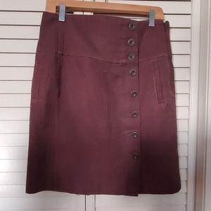 Anthropologie soft brown skirt